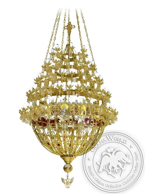 Chandelier Bronze Byzantine No110 Gold Plated