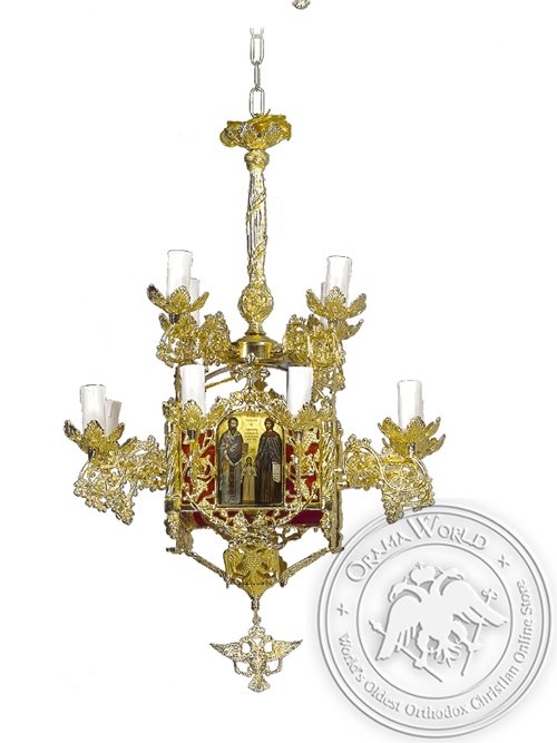 Chandelier Bronze Byzantine No13 Gold Plated