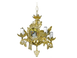 Chandelier Bronze Byzantine No4 Gold Plated