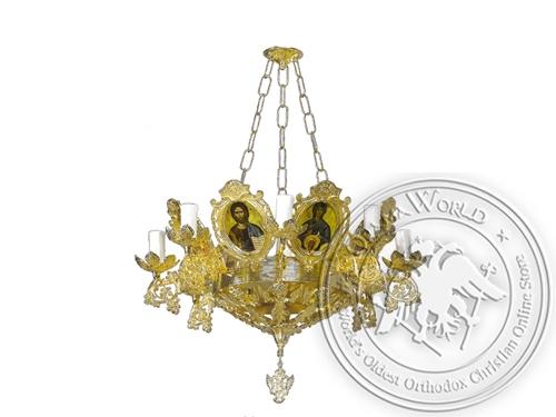 Chandelier Bronze Byzantine No9 Gold Plated