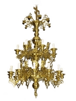 Chandelier Bronze Masif No28 Brash