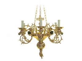 Chandelier Bronze No12 Gold Plated