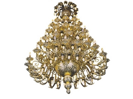 Chandelier Bronze No168 Gold Plated