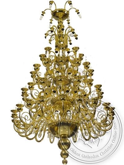 Chandelier Bronze No24 Gold Plated
