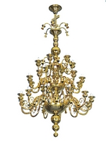 Chandelier Bronze No80 Gold Plated