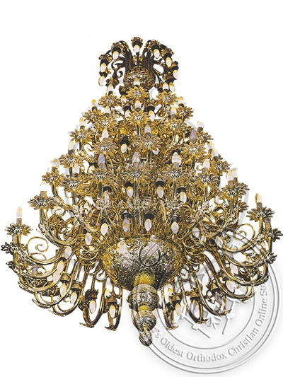 Chandelier Bronze No 24 Gold Plated Angels