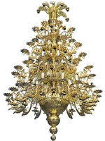 Chandelier Bronze No 48 Gold Plated Dragons