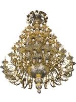 Chandelier Bronze No 80 Gold Plated Angels