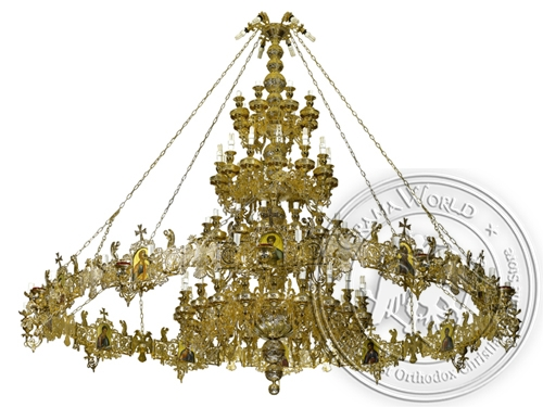 Chandelier Bronze & Choros No100 Gold Plated