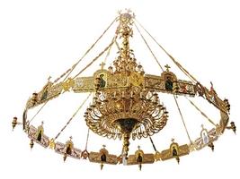 Chandelier Bronze & Choros No225 Gold Plated