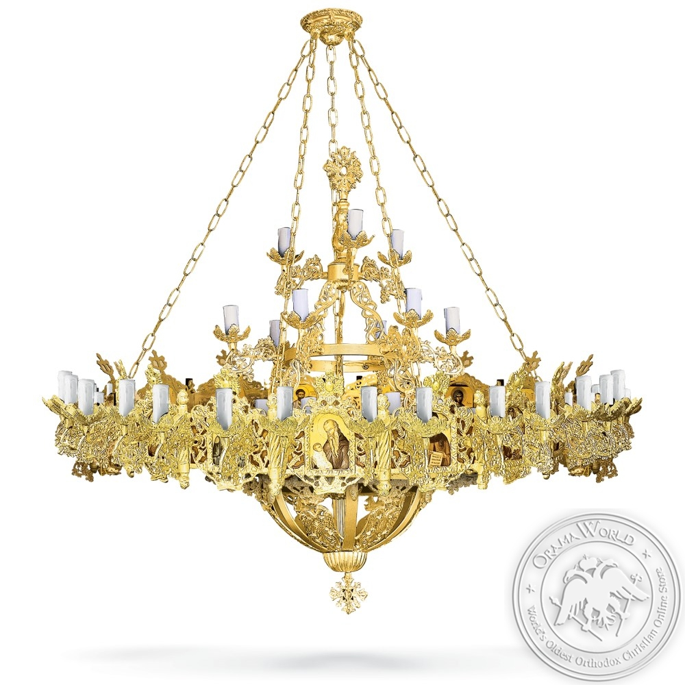 Aluminium Chandelier and Choros Gold Plated - 67 Lights