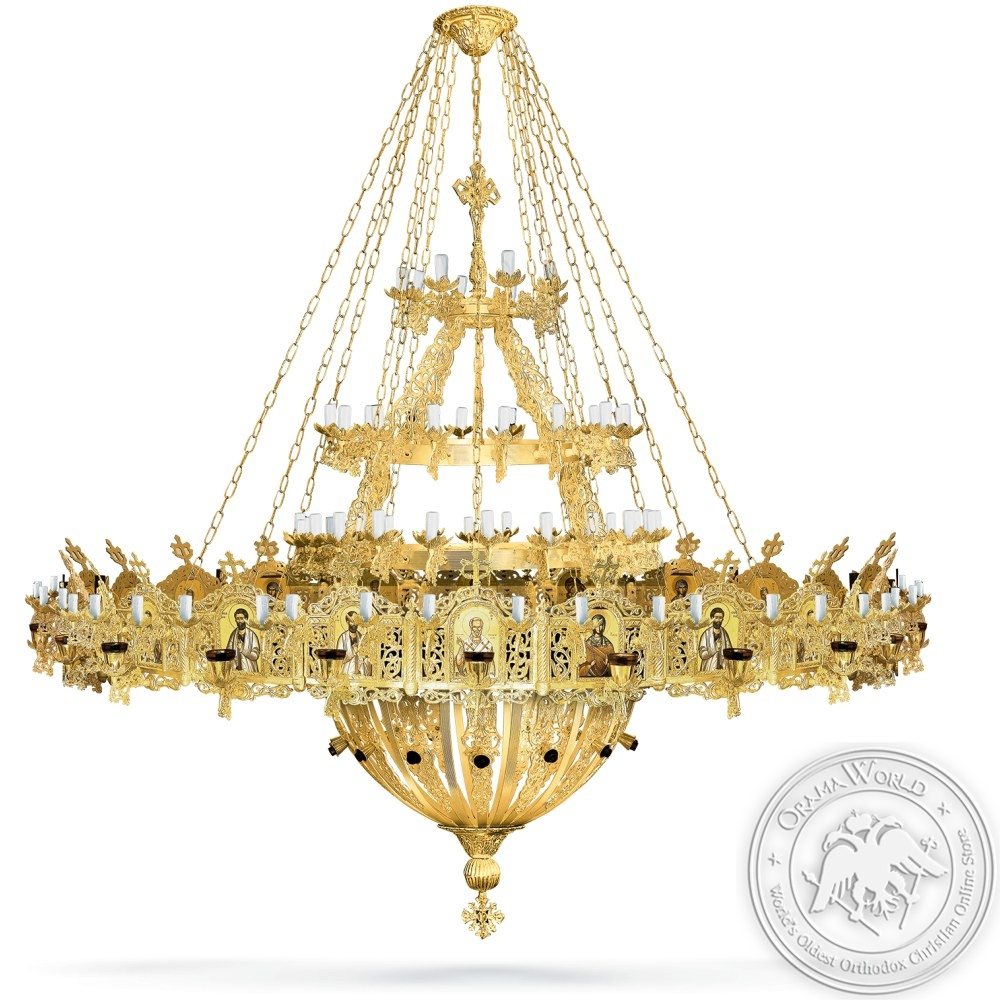 Aluminium Chandelier and Choros Gold Plated - 134 Lights
