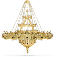Aluminium Chandelier and Choros Gold Plated