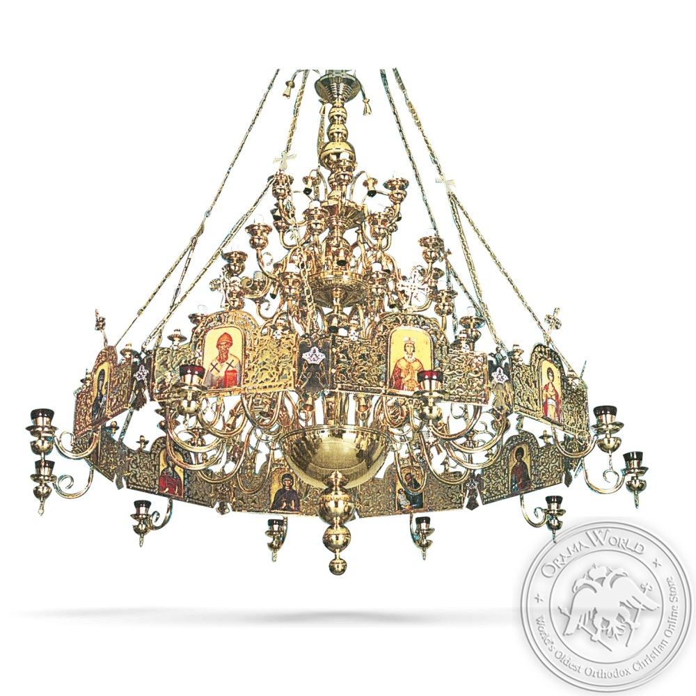 Bronze Chandelier and Choros Gold Plated