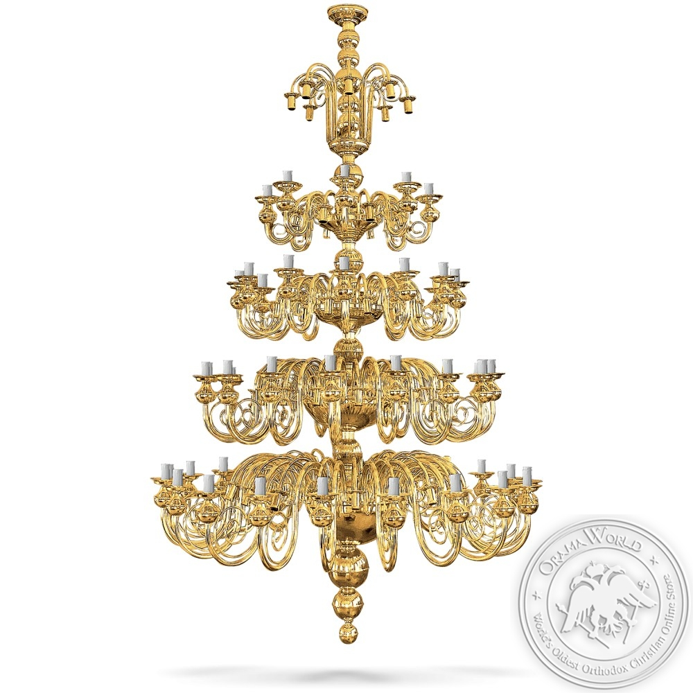 Bronze Chandelier Gold Plated