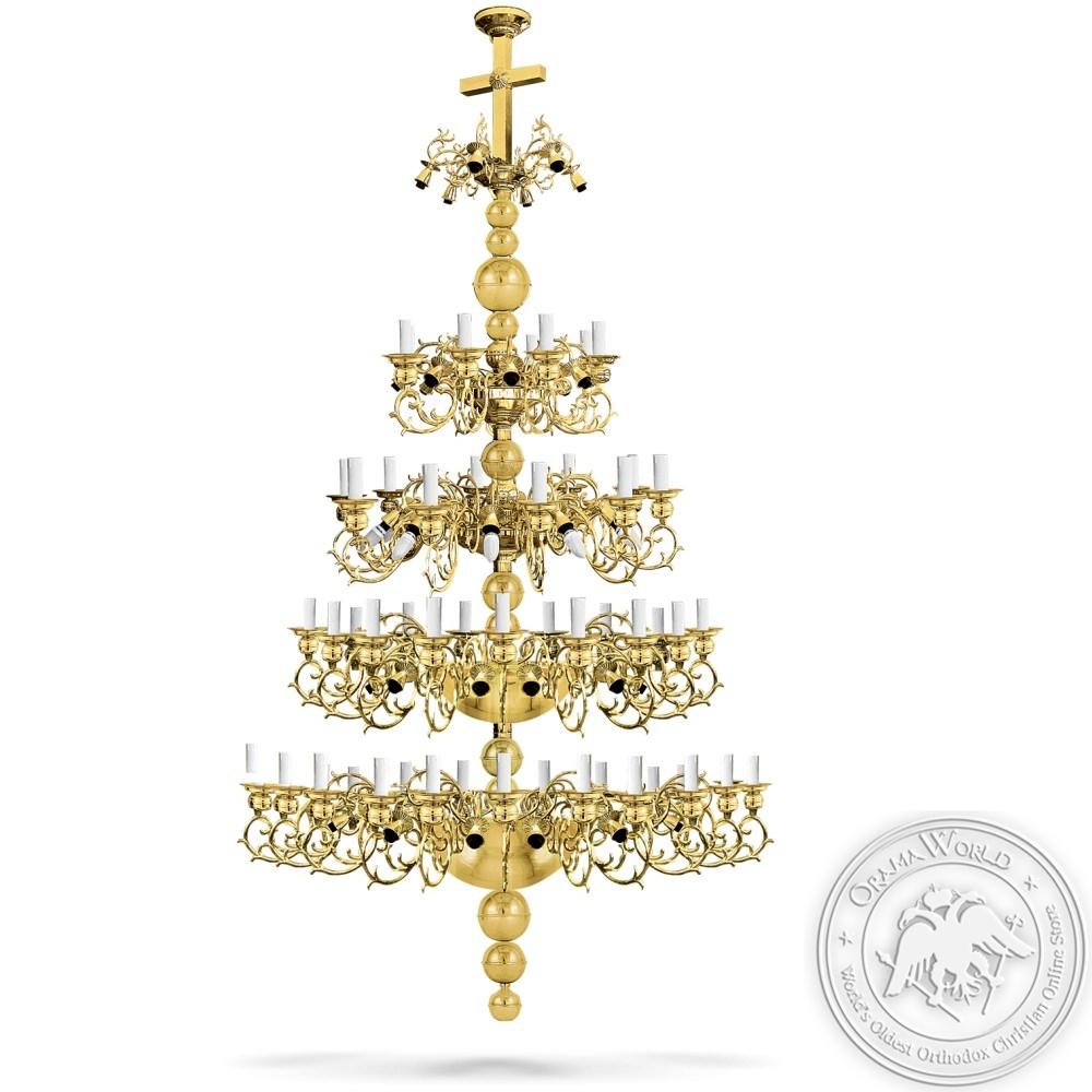 Bronze Chandelier Gold Plated