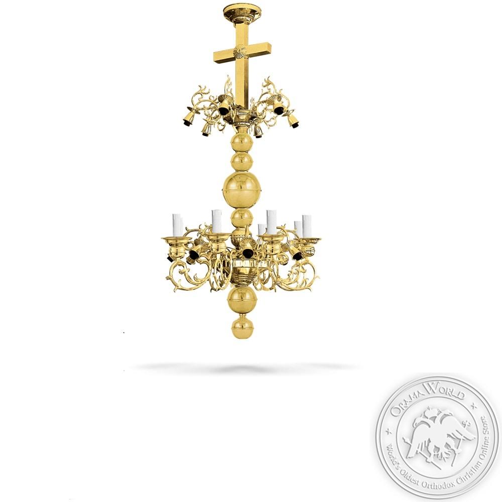 Bronze Chandelier Gold Plated - 22 Lights