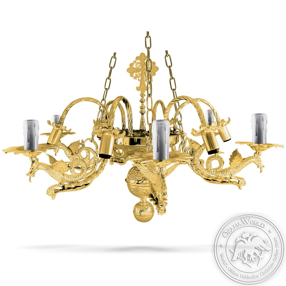 Bronze Chandelier Gold Plated No12