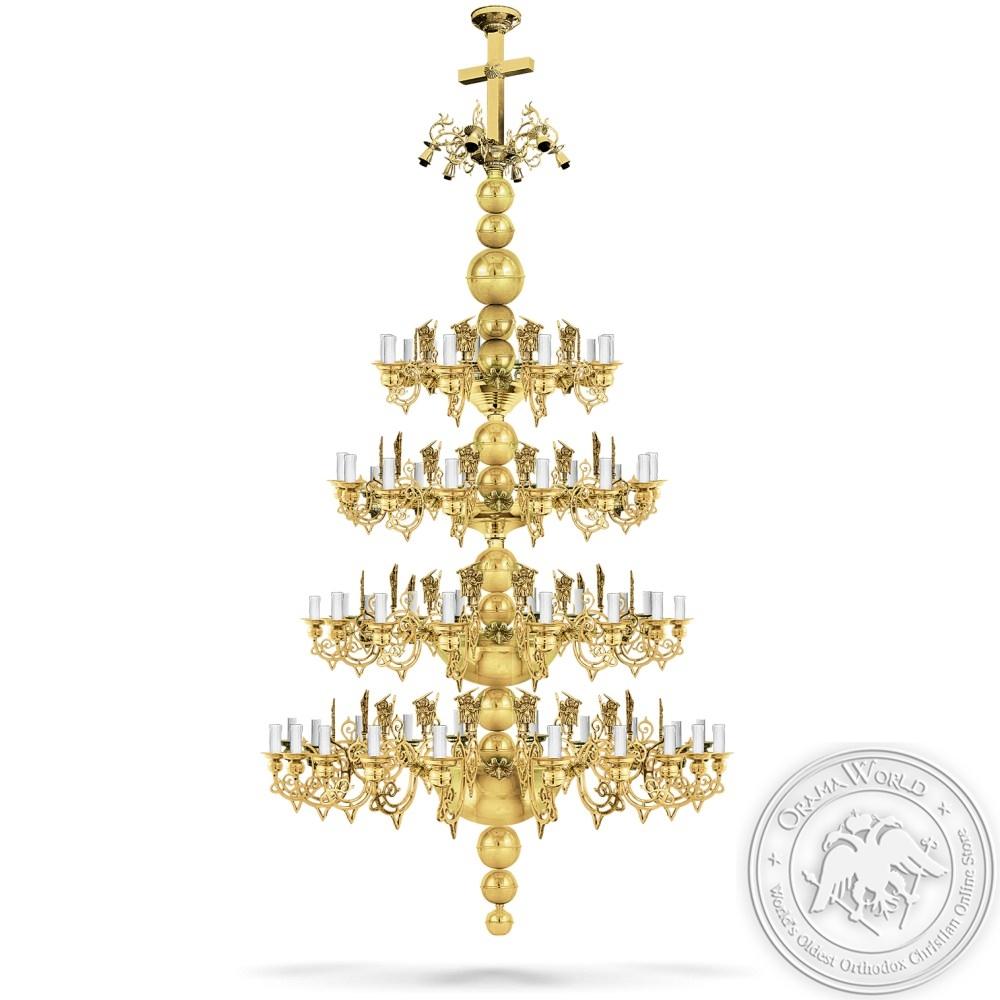 Bronze Chandelier Polished - 64 Lights