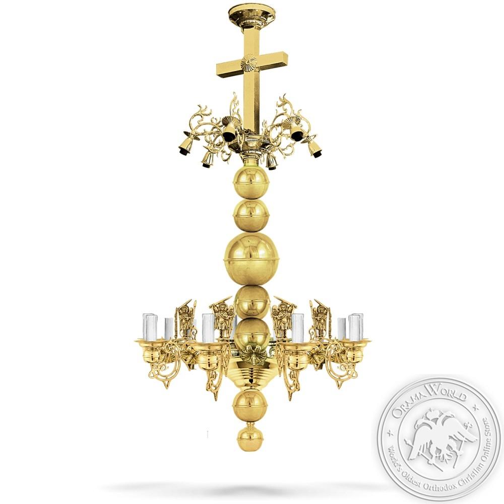 Bronze Chandelier Polished - 16 Lights