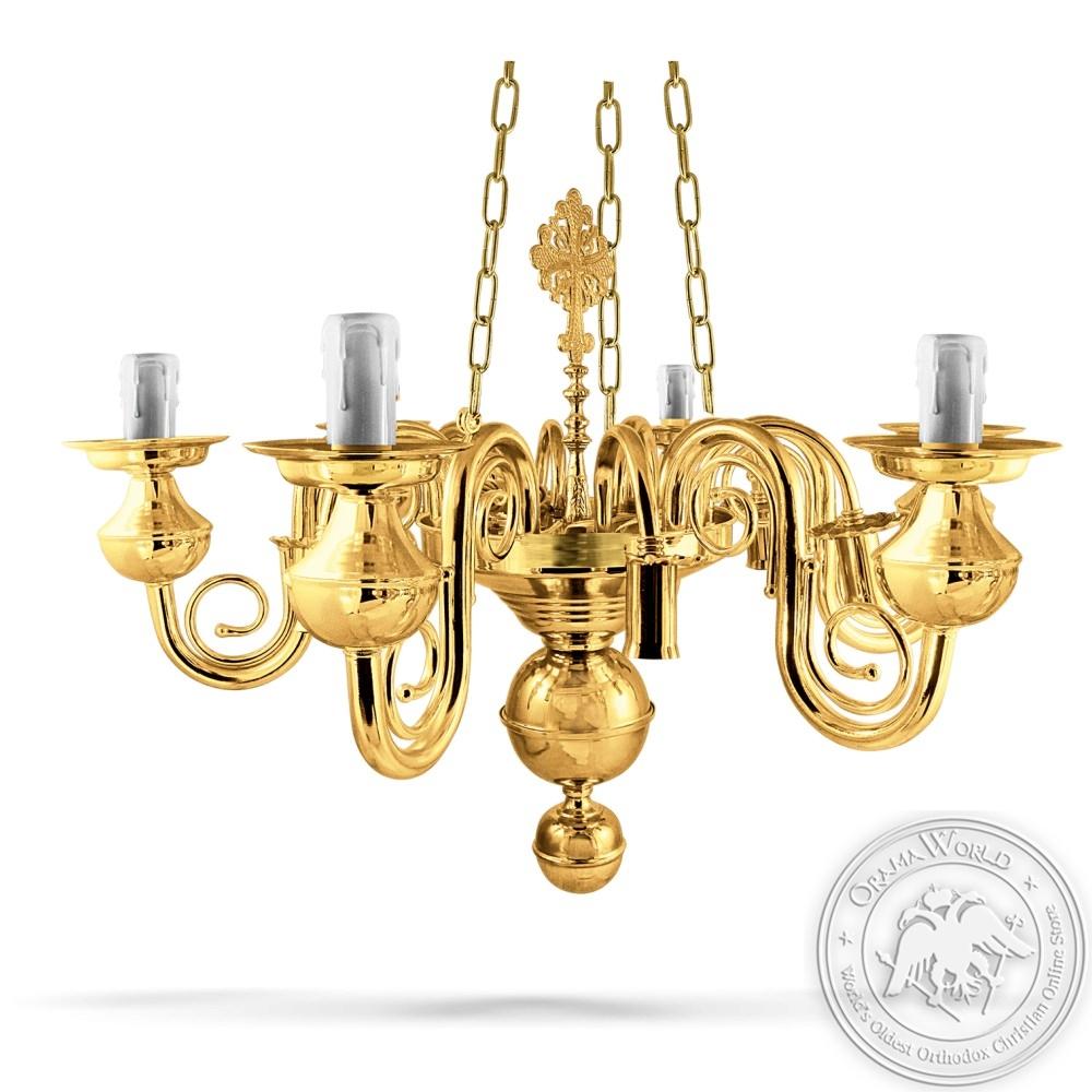 Bronze Chandelier Polished No12 - 12 Lights
