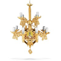 Chandelier Aluminium No13 Gold Plated