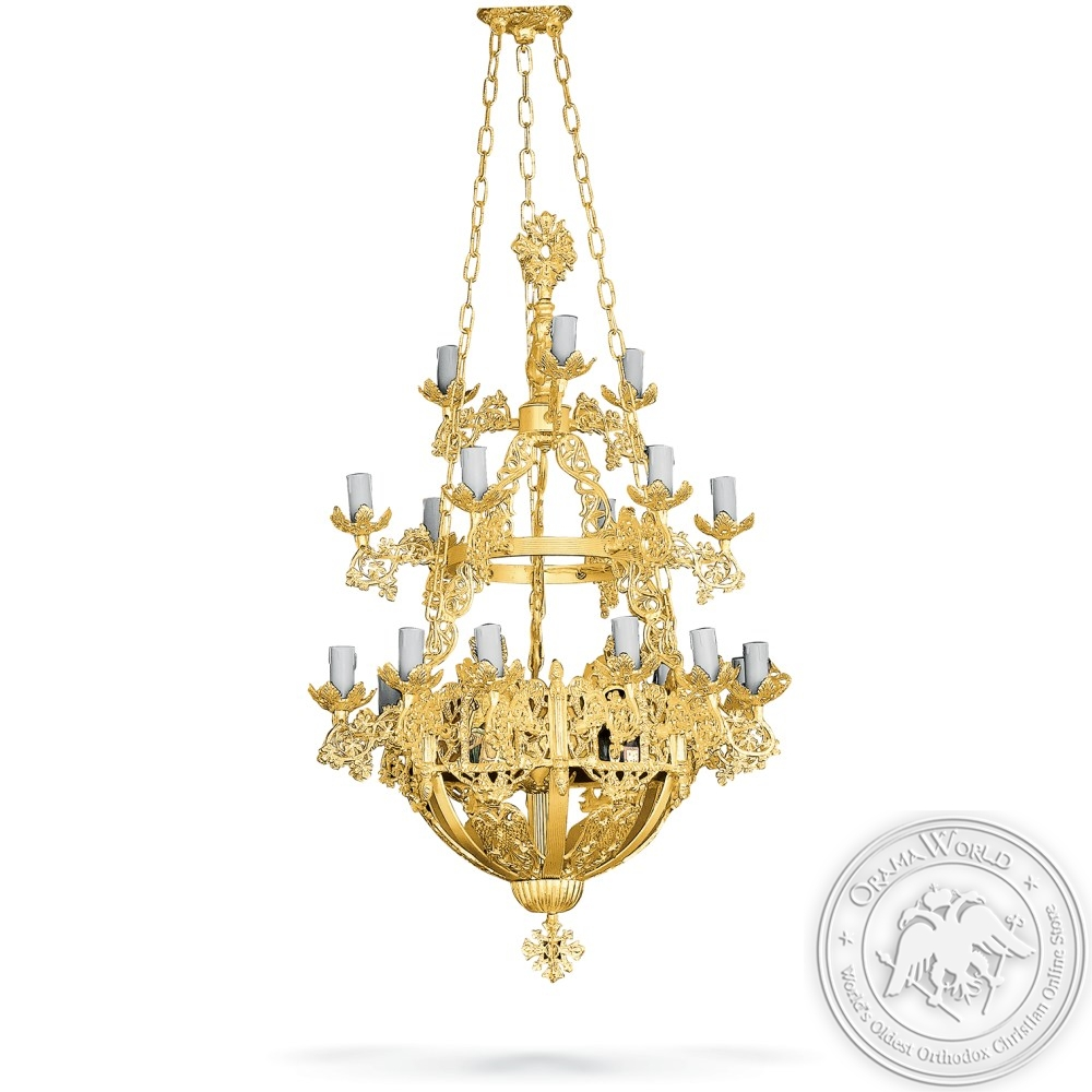 Chandelier Aluminium No22 Gold Plated