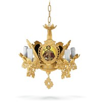 Chandelier Aluminium No5 Gold Plated