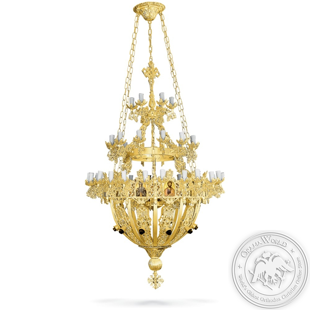 Chandelier Aluminium No50 Gold Plated