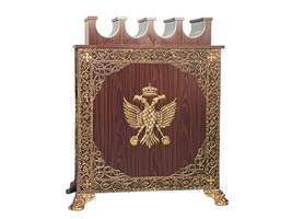 Candle Icon Stand Aluminium No4 Gold Plated
