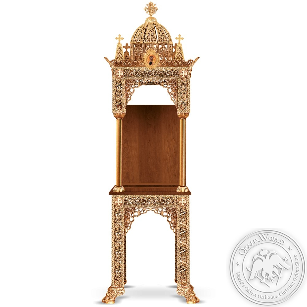 Icon Stand Aluminum Gold Plated