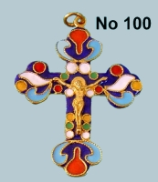 Pectoral Cross Byzantine Design - 100B