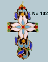 Pectoral Cross Russian Design - 102R