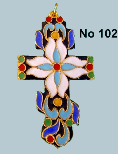 Pectoral Cross Russian Design - 102R
