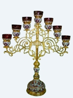 Seven-branch Holy Table Vigil Candle with Enamel