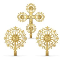Procesional Fans and Cross Gold Plated