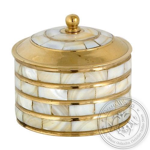 Byzantine Brass with Ivory Incense Box