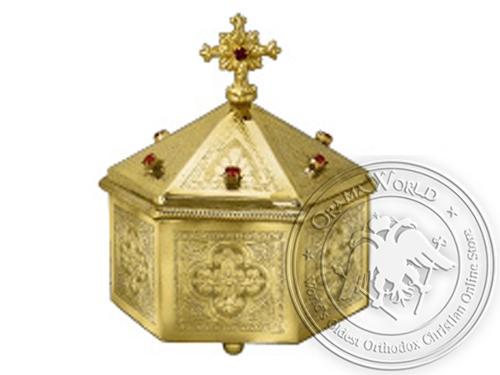 Reliquary Hexagon Gold Plated