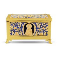 Reliquary Enamel Gold Plated