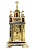 Tabernacle Temple Gold Plated Enamel