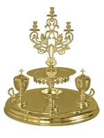 Tray Candlestick Gold Plated