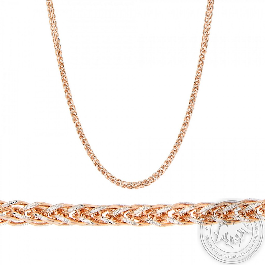 Chain made of 14K Pink and White Gold