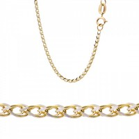 Chain made of 14K Yellow and White Gold
