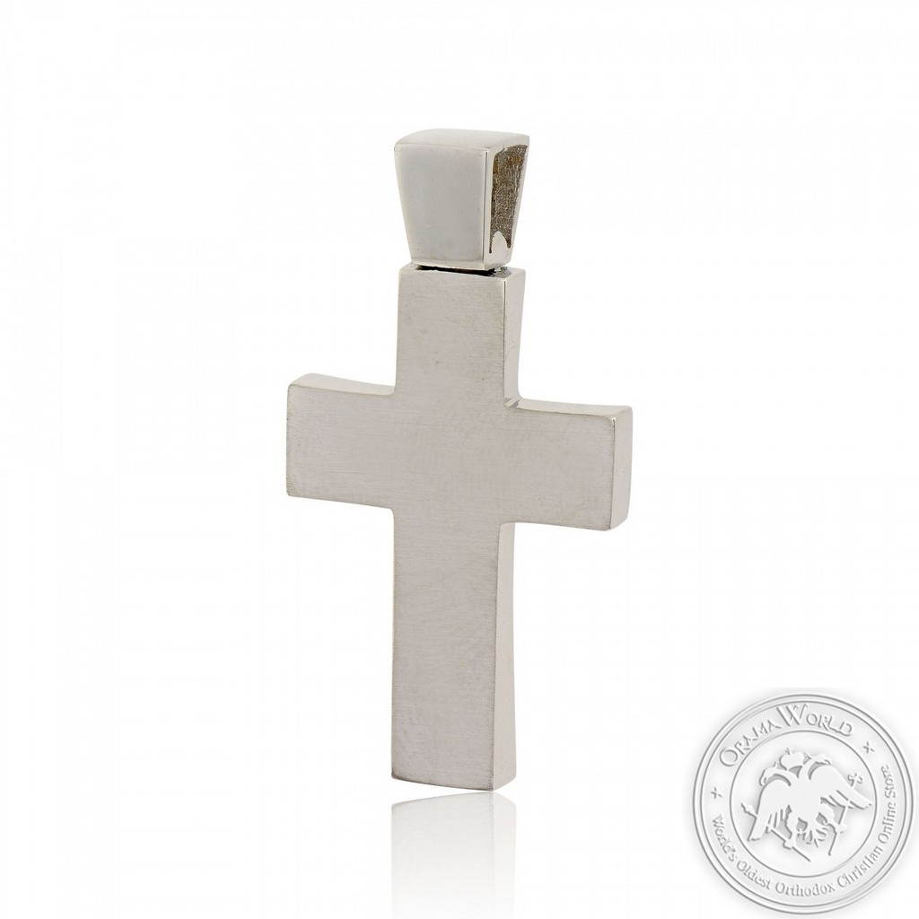 Christening Cross for Boys made of 14K Yellow and White Gold
