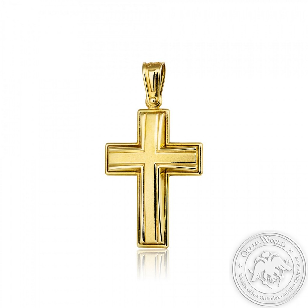 Christening Cross with Yellow K14 Gold