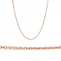 Ladies Chain made of 14K Pink Gold
