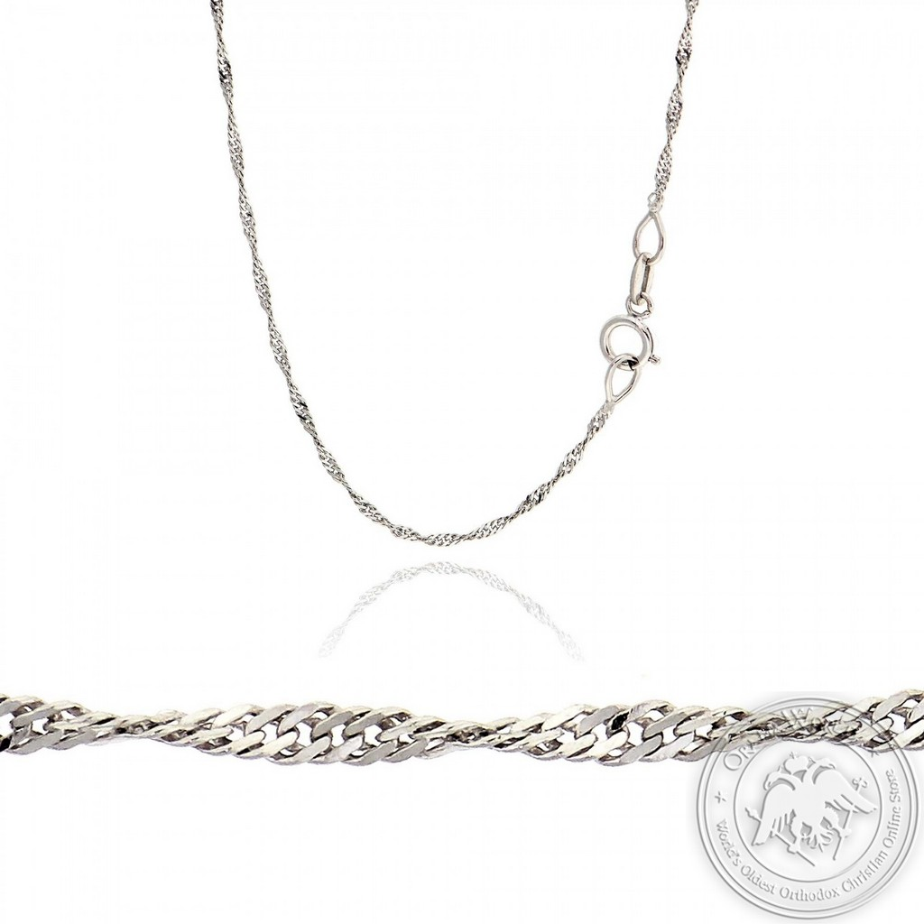 Ladies Chain made of 14K White Gold