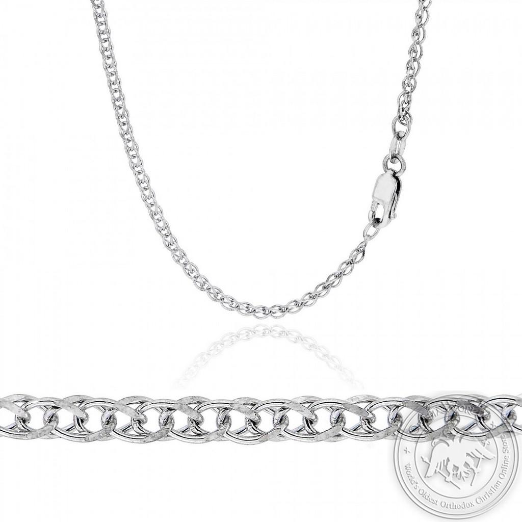 Spigga Chain made of 14K White Gold