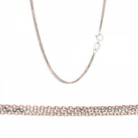 Triple Chain made of 14K Pink and White Gold