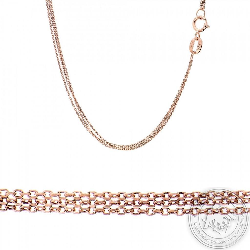 Triple Chain made of 14K Pink Gold